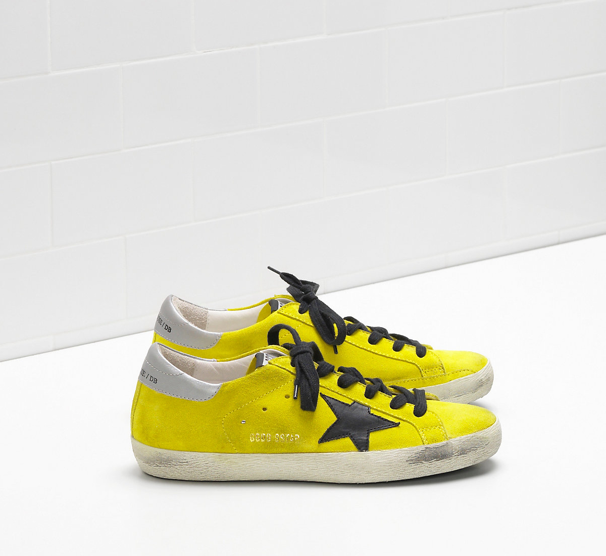 Golden Goose DB Super Star Sneakers In Calf Suede With Black Leather Star
