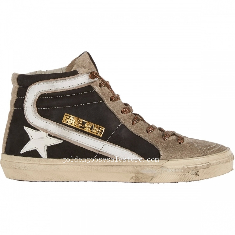 Golden Goose Deluxe Brand Slide Hi Sneakers In Brown