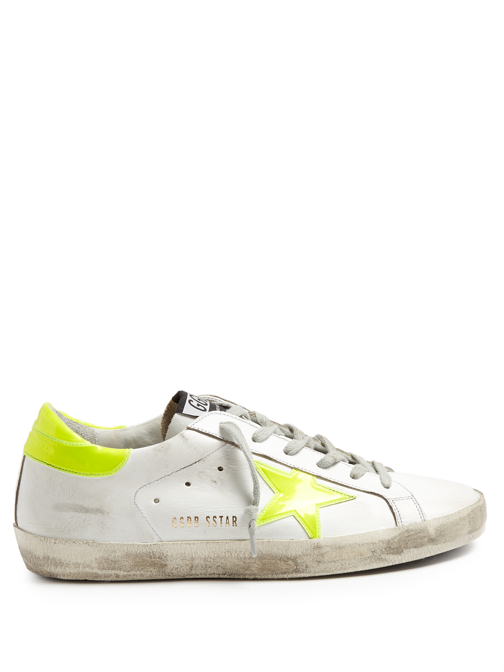 Golden Goose Super Star Low-top Sneakers In White Leather With Star