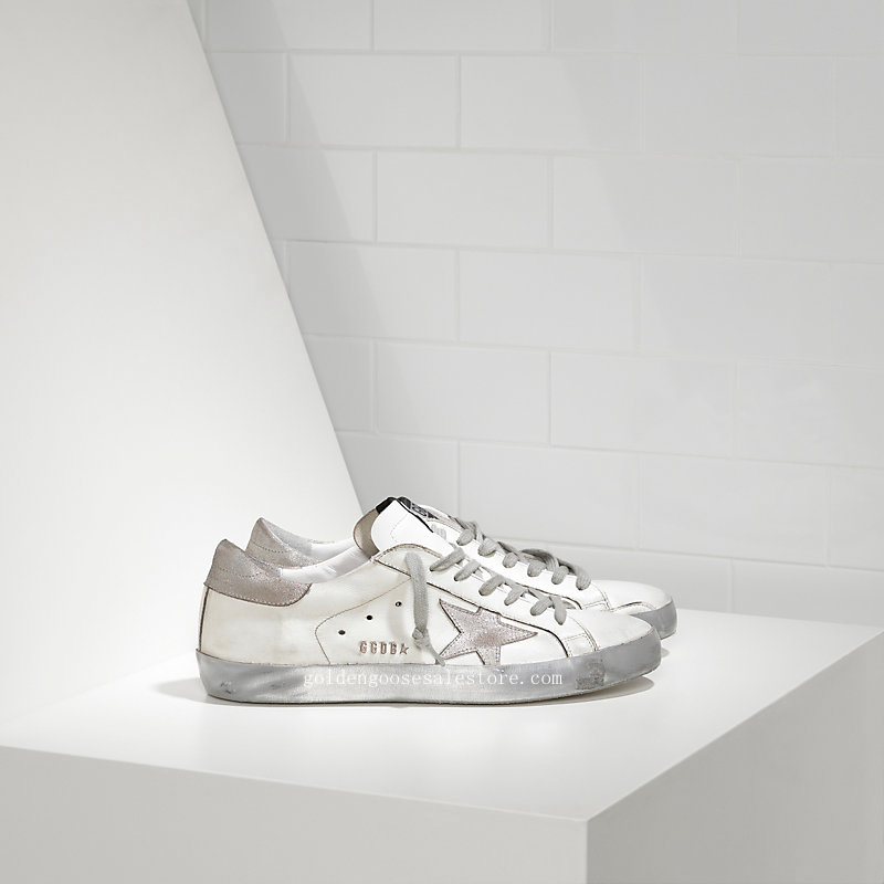 Golden Goose Deluxe Brand Super Star Sneakers In Leather With Suede Star MS590A31