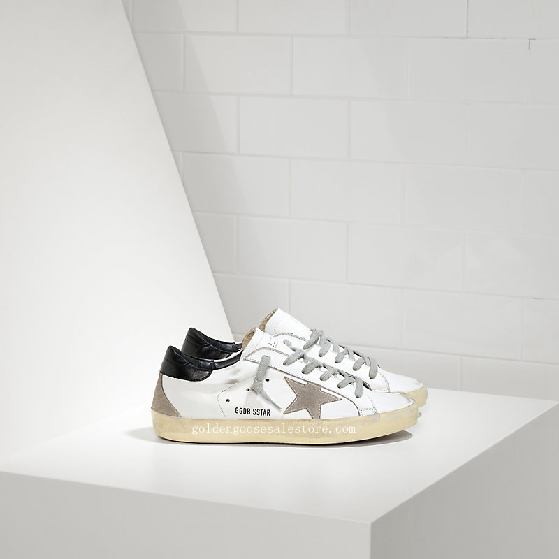 Golden Goose Deluxe Brand Super Star Sneakers In Leather With Suede Star WS590E21
