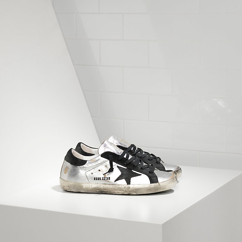 Golden Goose Deluxe Brand Super Star Sneakers In Leather With Suede Star WS590F8