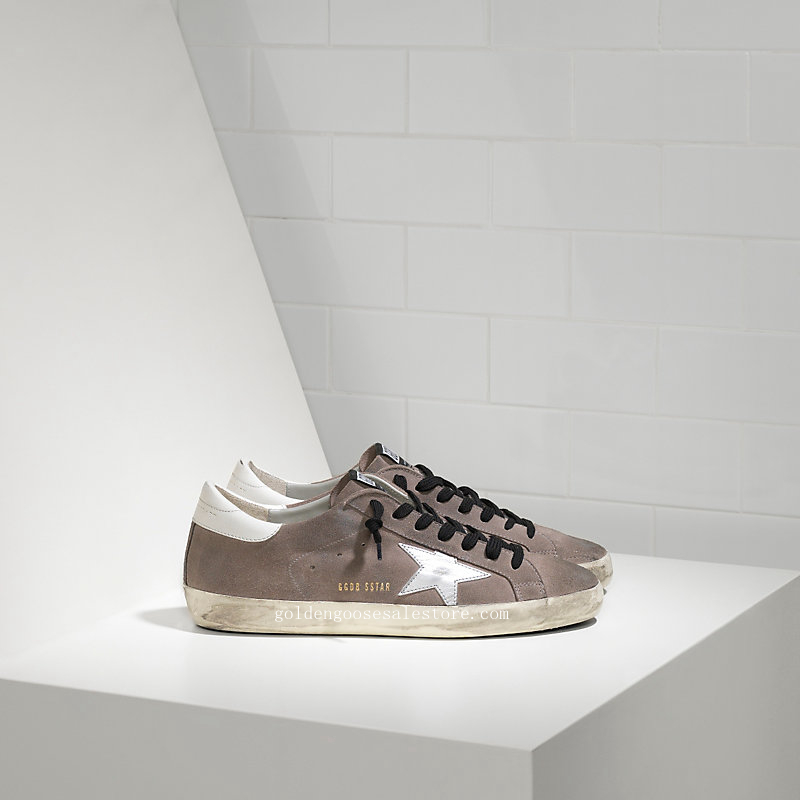 Golden Goose Deluxe Brand Super Star Sneakers In Suede And Leather Star G29MS590A65