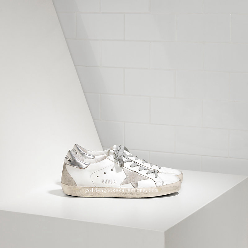 Golden Goose Deluxe Brand Women Super Star Sneakers In Leather With Suede Star GCOWS590W77