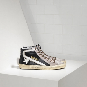 Golden Goose Deluxe Brand Slide Sneakers In Leather With Leather Star GCOMS595I6