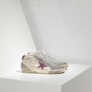 Golden Goose Deluxe Brand Mid Star Sneakers In Leather With Suede Star WS634E38