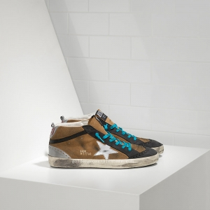 Golden Goose Deluxe Brand Mid Star Sneakers In Suede With Leather Star